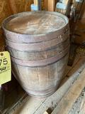 Small wood barrel