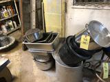 Stainless stock pots and cook ware