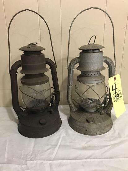 Two Dietz No. 2 lanterns