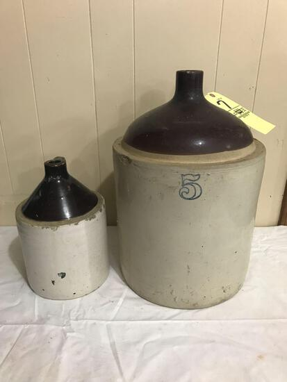 Two stoneware jugs