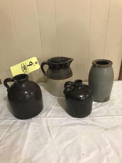 Four pcs. stoneware