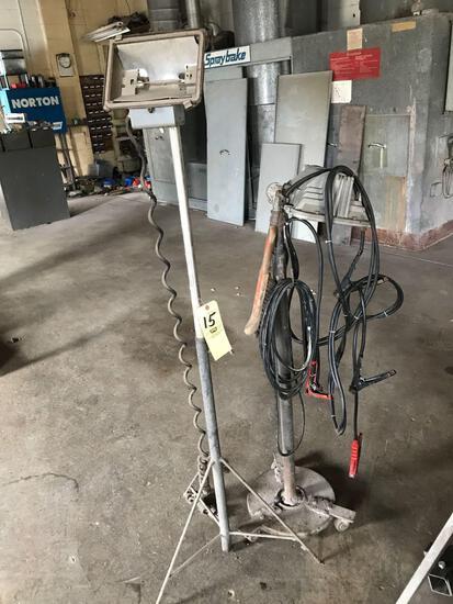 Two shop lights - jumper cables
