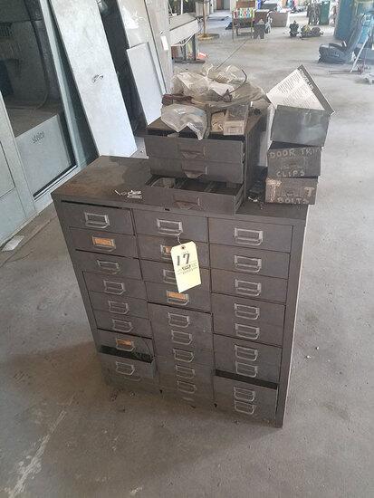 Hardware cabinet and automotive hardware