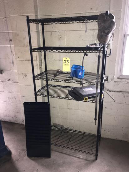 6' shop rack - metal wall file