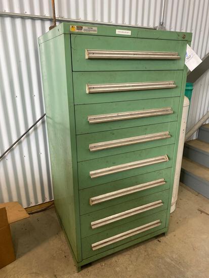 Stanley vidmar 8 drawer box, 60inch tall x 30 inch wide