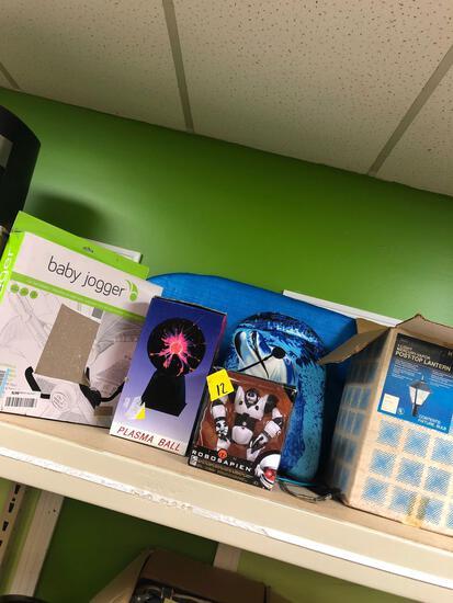 Jogger car seat adapter, lantern, lamp, toys