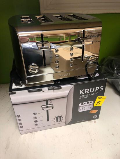 Krups 4 slice toaster new in box, tested & working