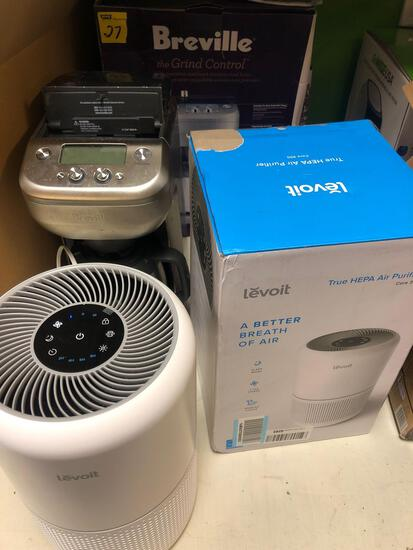 Levoit Air purifier and Breville coffee pot