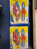 2 vintage car cases filled with cars