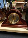 Vintage pendulum clock, running condition, key and pendulum.