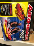 Double dog in box airhead towable tub