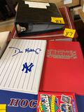 Binders of sports cards