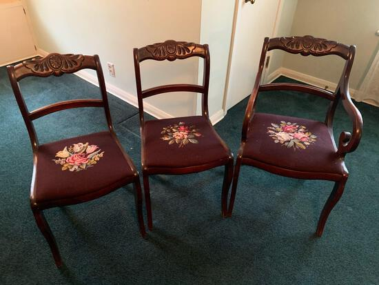 (4) upholstered dining chairs