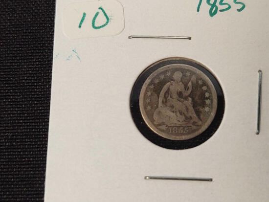 1855 Seated Half Dime