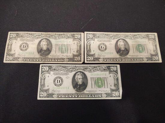 1934 $20 Note Cleveland, Chicago, Cleveland