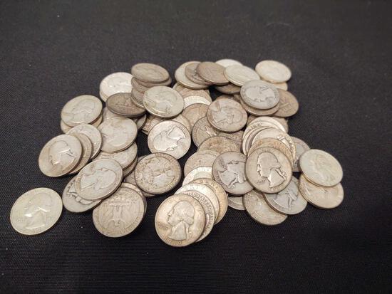 Assorted Washington Silver Quarters