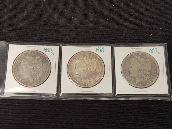 Morgan Dollar 1882s, '89, '97o