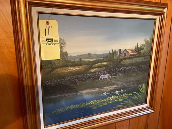 Oil/canvas painting signed-picture frames