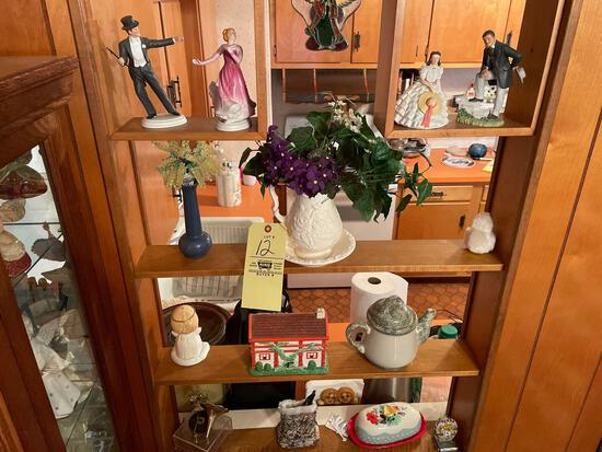 Figurines, pitcher, music box