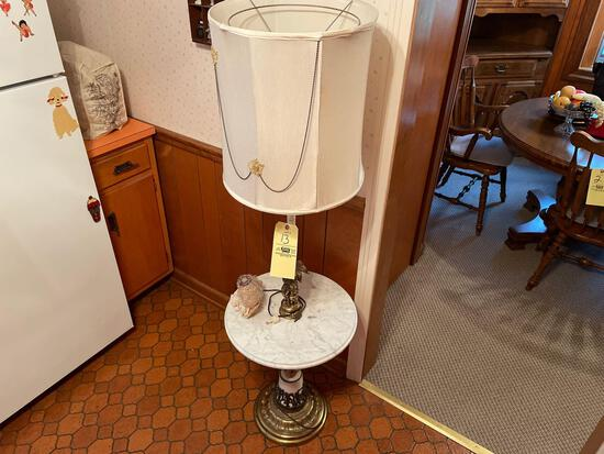Floor lamp-marble stand