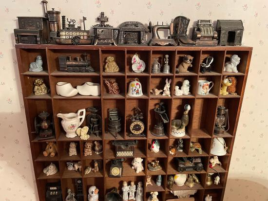 Printer drawer with miniatures