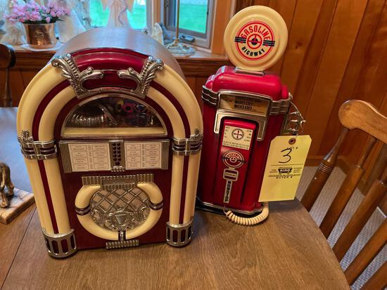 Modern jukebox cassette player-modern gas pump phone