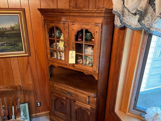 Temple Stuart corner cupboard-lighted-one piece