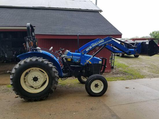 New Holland 55 workmaster tractor with 615TL loader, 839hrs