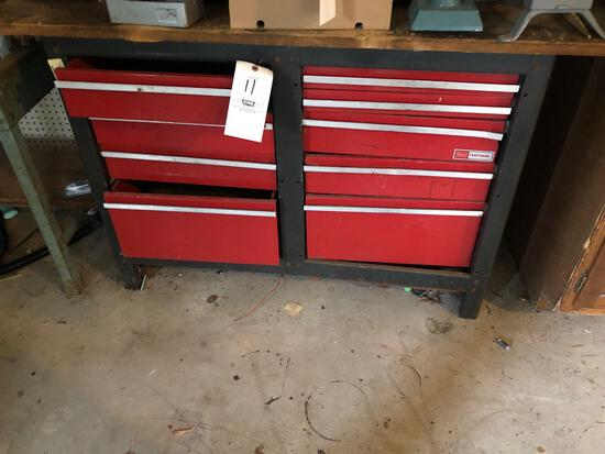 Craftsman Workbench with Contents