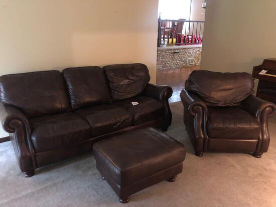 3-pc. Pleather Furniture Set