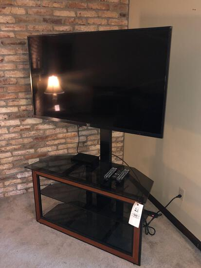 LG Flat-screen with Modern Stand