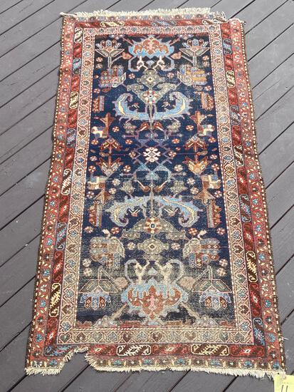 Persian handmade rug, 6.5 x 3.4.