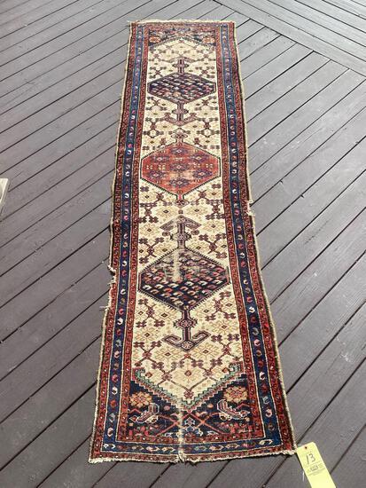 Persian handmade rug, 9.5 x 2.6