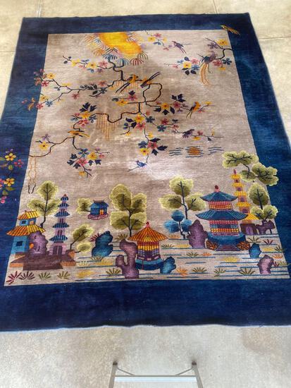 Chinese handmade rug, 11.6 x 8.11