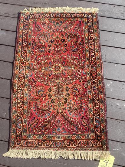Oriental handmade rug, 2.2 x 3.8