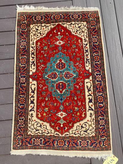 Iran 100% wool pile rug, 4.6 x 2.10