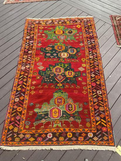 Persian handmade rug, 8 x 4.8