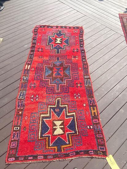 Persian handmade rug, 8.9 x 4