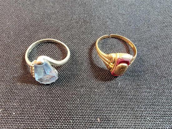 (2) Rings Marked 10K