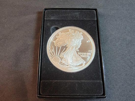 1 Pound Troy .999 Fine Silver Coin