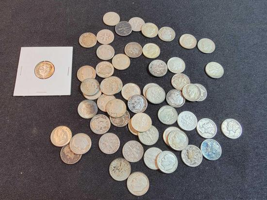 (57) Roosevelt and Mercury Silver Dimes