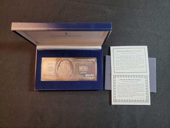4 Troy Oz. $100 Silver Certificate
