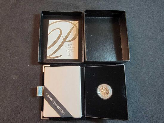 1999 Tenth Ounce Patinum Proof Coin