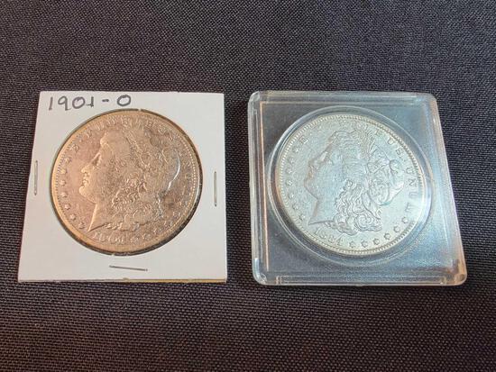 1884 and 1901-O Morgan Dollars