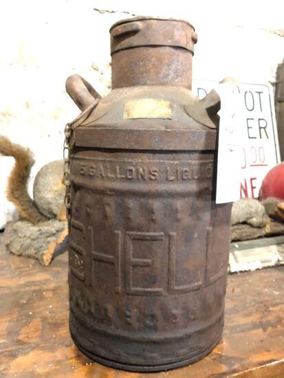 Shell 5 gallon oil can