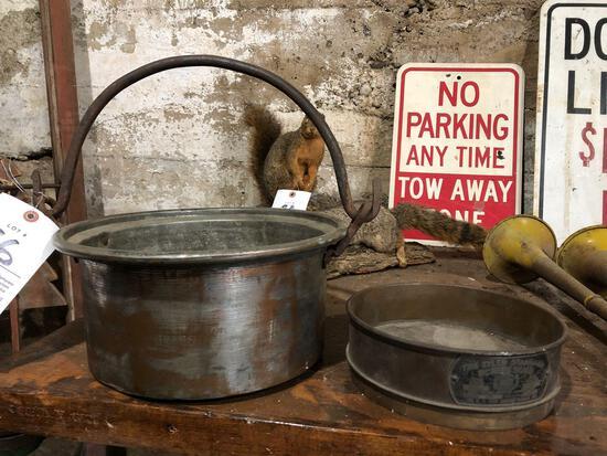 Brass screen sifter, bucket