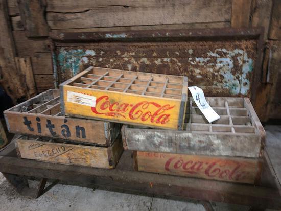 (5) soda crates
