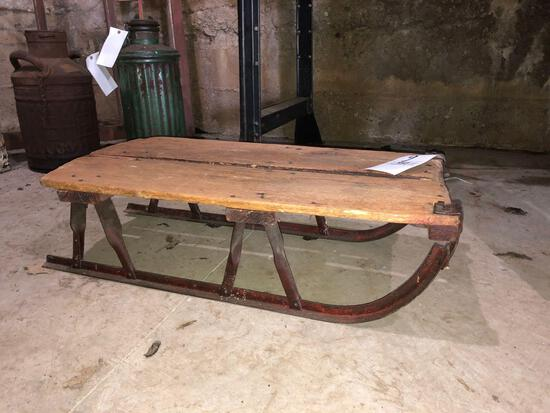 Antique wood sled