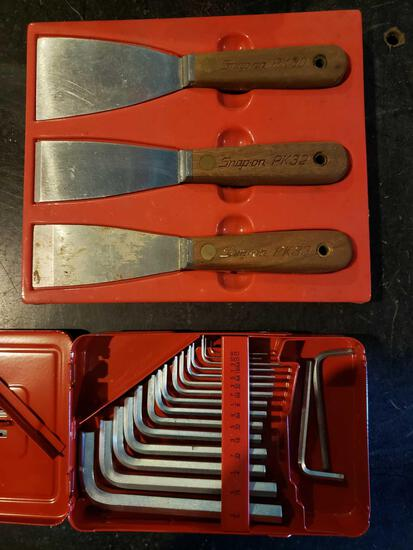Snap-On Allen wrench set and putty knives