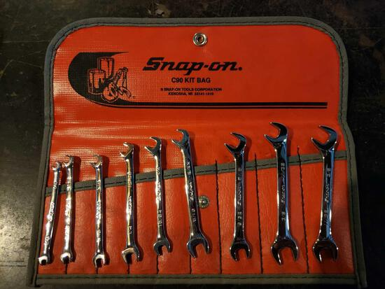 Snap-On C90 (9) wrench kit bag 1/8 to 3/8